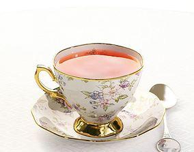 Tea Set Porcelain Cup 3D