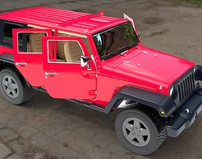 3D asset Jeep Wrangler