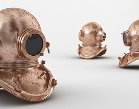 ocean Diving Helmet 3D model