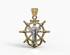 3D printable model Saint Nikolai pendant