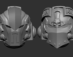 Adeptus astartes alternative heads set 3D print model