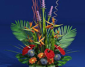 3D exotic bouquet