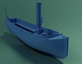 Steam Lifeboat 3D asset