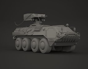 3D asset Military armoured vehicle kit 02