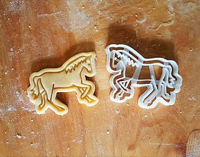 Horse cookie cutter 3D printable model
