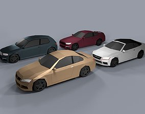3D model Low Poly Cartoon Cars