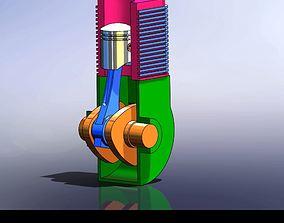 basic engine assembly 3D printable model