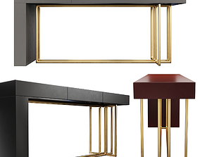Meridiani Quincy Console table 3D model