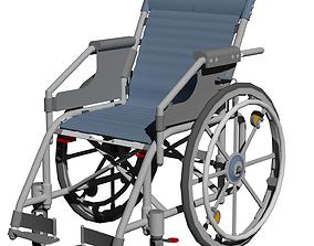 3D model medical-equipment Wheelchair