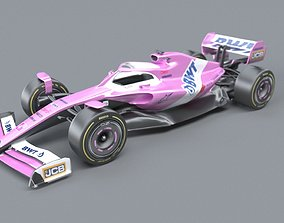 BWT Racing Point Formula One Team concept 3D model 1