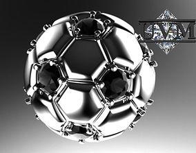football 3D print model Ball jewelry pendant