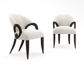 3D Christopher Guy CURLICUE dining chair