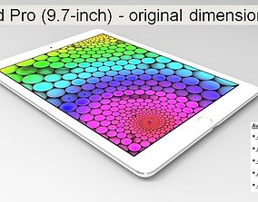 iPad Pro - original dimensions 3D