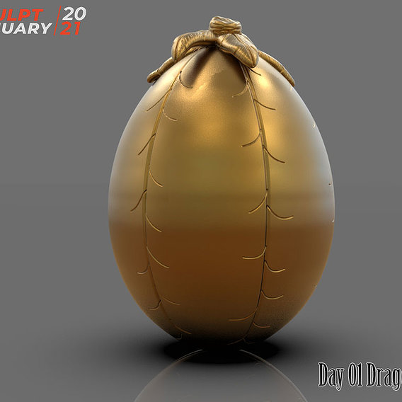 Dragon Egg Day 01 Sculptjanuary 2021