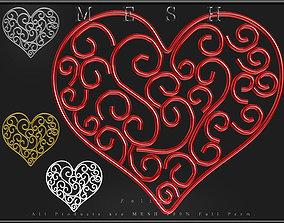 Heart Wire 06 3D asset