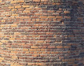3D Brick wall with damage