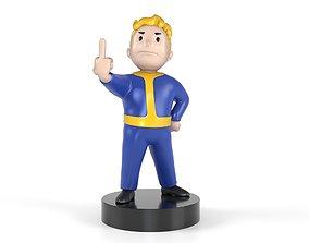 Vault boy Fuck 3D printable model
