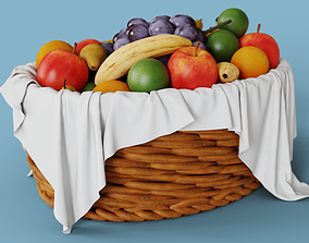 High Detailed Fruit Basket 3D