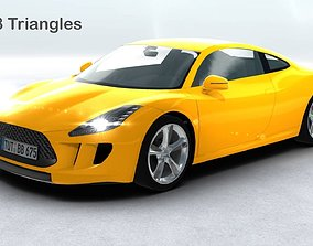 3D asset Generic Sports Car Realtime