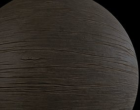 3D Cracked wood material