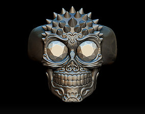 3D printable model Punk skull ring