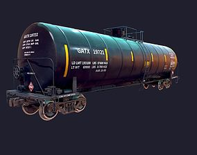 Tanker Car LowPoly 3D model