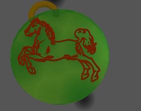 3D print model Pendant Horse Full