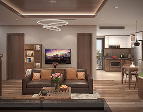3D model Apartment livingroom tradition