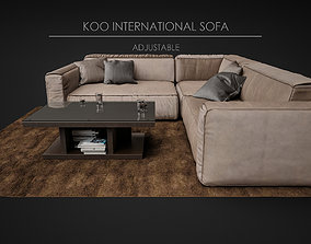 sofa 3D model Sofa Soft - Koo International Sofa 06