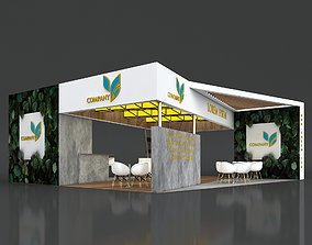 Exhibition Booth Stand Stall 8x10m Height 350 3D model 3