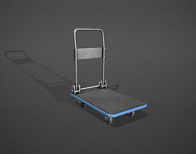 3D model Folding Platform Truck Trolley - Blue Accents