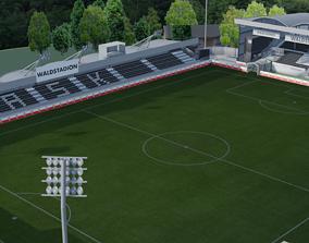 Raiffeisen Arena Pasching Austria 3D model low-poly