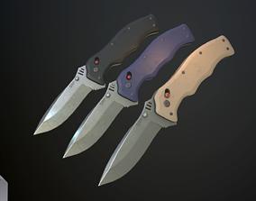 Clasp knives vulcan vol pack 3D asset