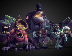 Ghoul Monsters Crew - Low Poly Hand Painted 3D asset