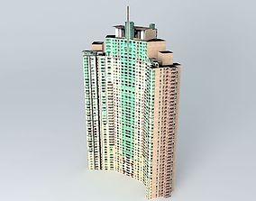 3D model Shimao Riviera Garden Tower 3