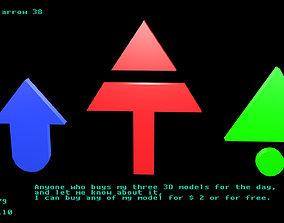 3D asset Low poly arrow 38