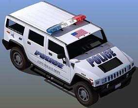 Police SUV Patrol Waggon 3D model