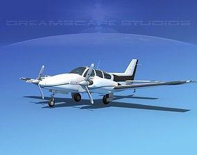 Beechcraft B55 Baron V10 3D model