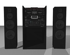 Big Stereo Setup - Multiple Components 3D model