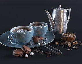 Hot chocolate set 3D model