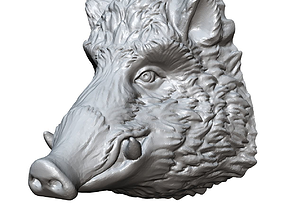 boar head sculpture 3D printable model
