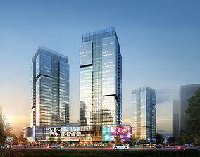 Skyscraper Business Center 3D urban