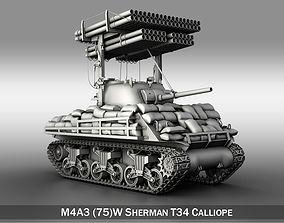 3D M4A3 Sherman-Calliope