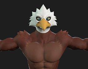3D Toon Eagle