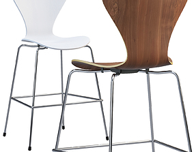 Fritz Hansen Series 7 counter stool 3D