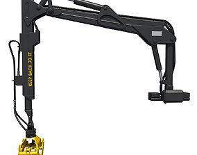 3D model Yellow Forwarder Crane