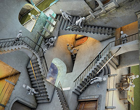 MC Escher Relativity 3D asset