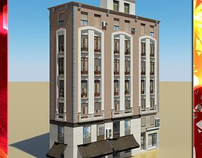 3D Photorealistic Low Poly Building