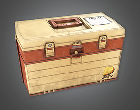 3D asset low-poly Tacklebox TLS - PBR Game Ready