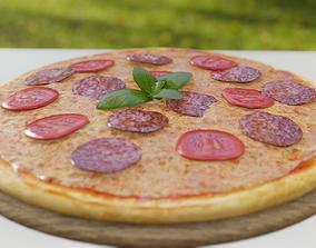 Realistic Pizza 3D model VR / AR ready